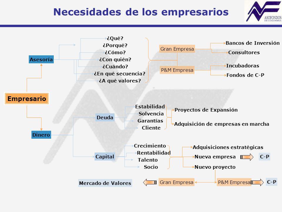 Necesidades de los empresarios Empresario Asesoría Dinero ¿Qué.