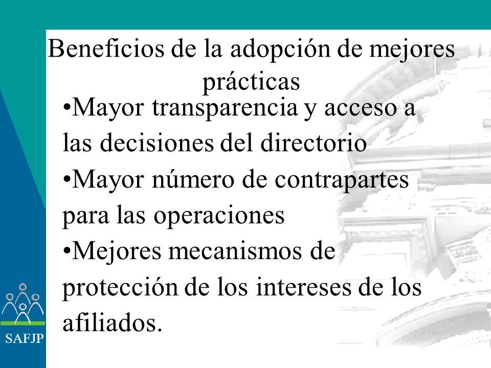 SAFJP Incorporación de estándares internacionales Chile (sancionó la Ley de OPA) Argentina (proyecto a ser elevado al Congreso) Perú (proyecto en vías