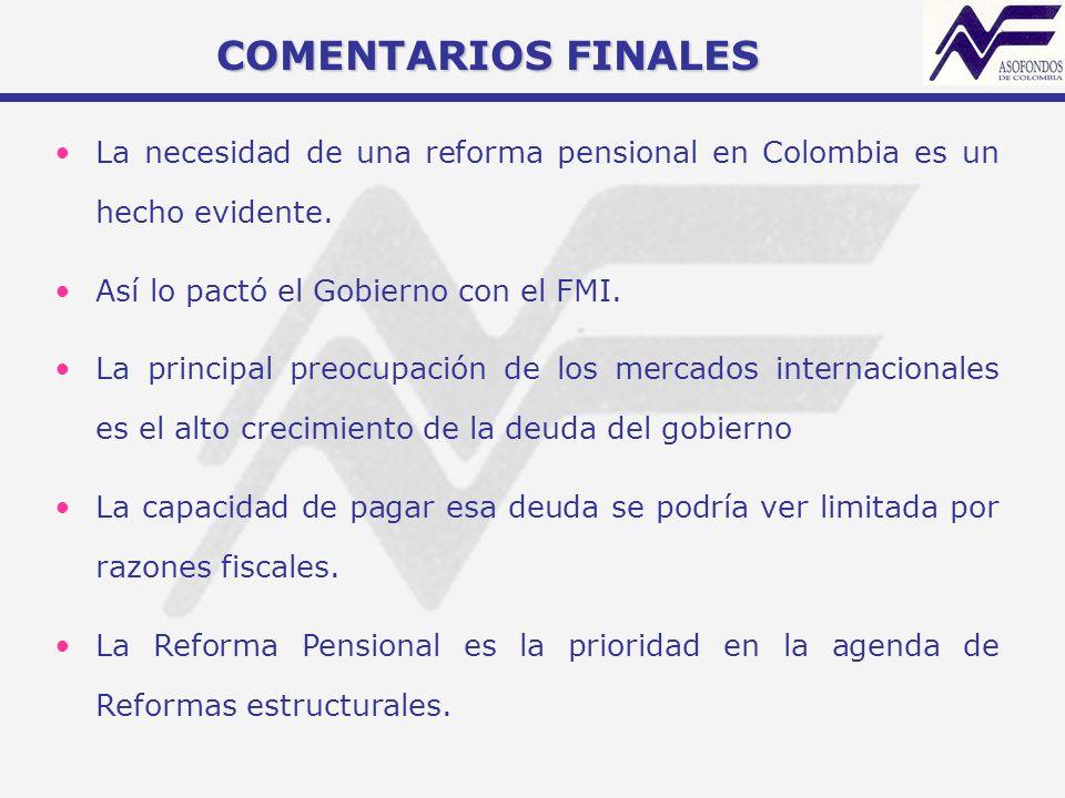 La necesidad de una reforma pensional en Colombia es un hecho evidente. Así lo pactó el Gobierno con el FMI. La principal preocupación de los mercados