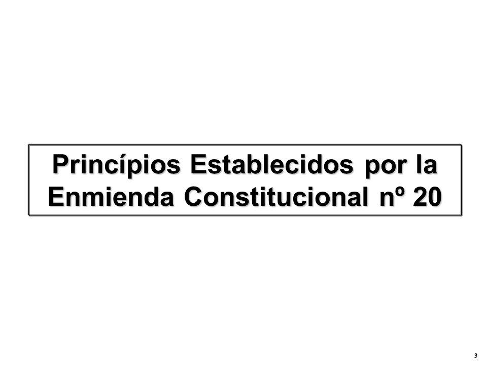 3 Princípios Establecidos por la Enmienda Constitucional nº 20