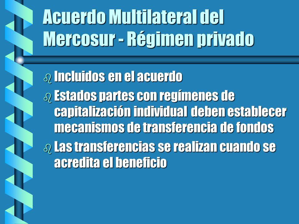 Sistemas multipilares b La transferencia de fondos debería hacerse efectiva entre regímenes de capitalización individual b Para los componentes públicos, la transferencia de derechos debería ajustarse a las cláusulas usuales de los convenios internacionales