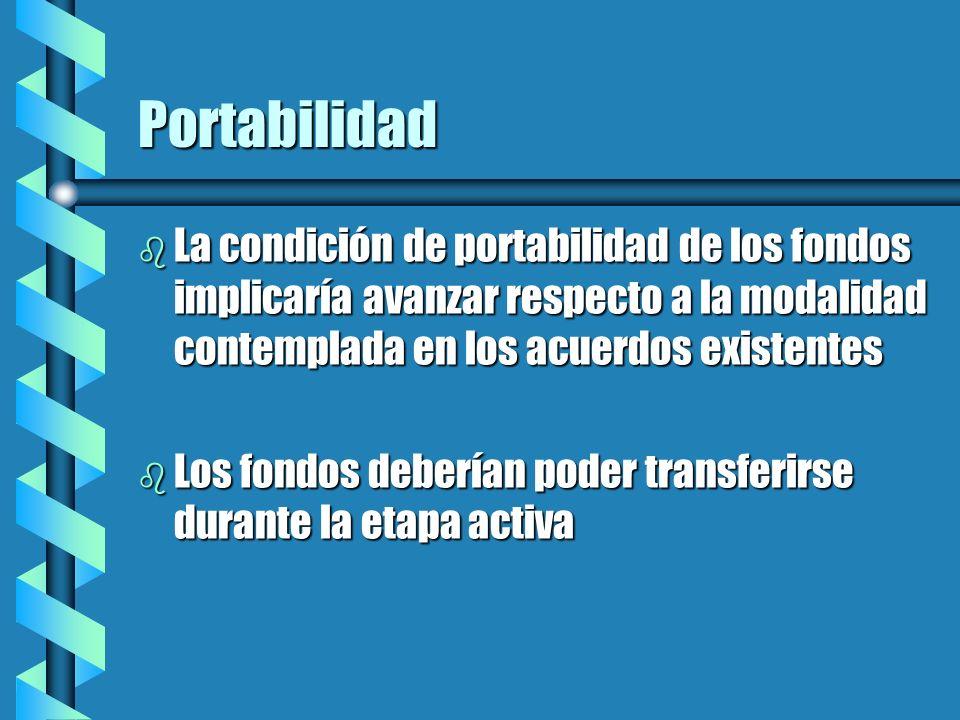 Transferencia en la etapa activa b Es conveniente, pues el trabajador que emigra tiene menores posibilidades de reaccionar en defensa de sus derechos, si el fondo permanece en el país de origen.