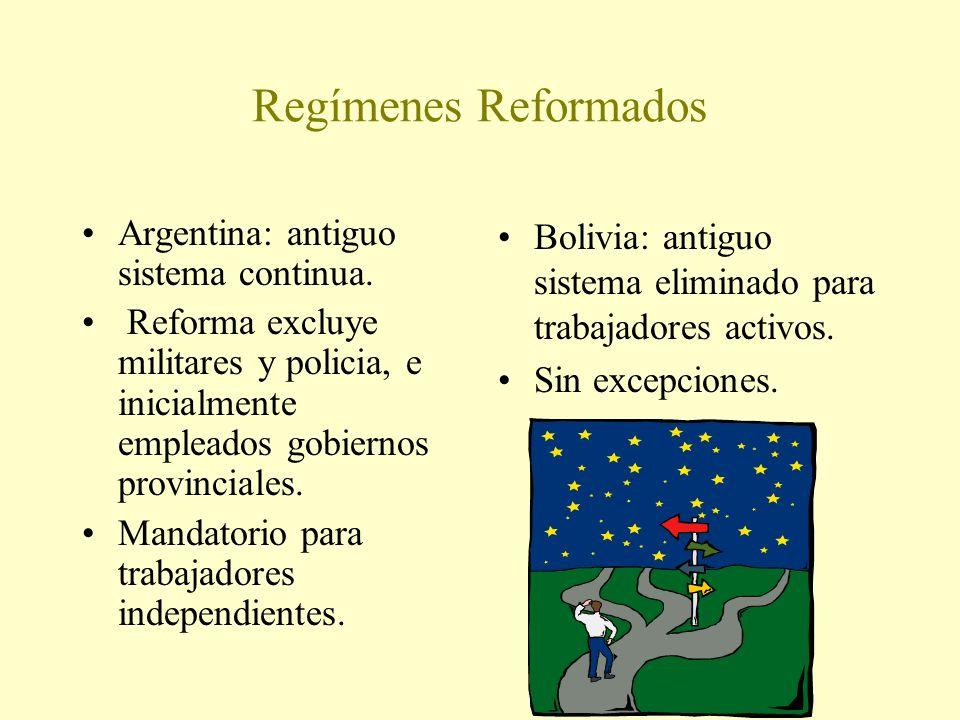 Regímenes Reformados Argentina: antiguo sistema continua.