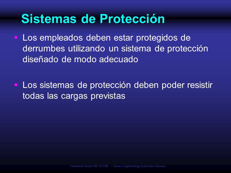 Harwood Grant 46F1-HT06 - Texas Engineering Extension Service Sistemas de Protección Sistemas de Protección Los empleados deben estar protegidos de de