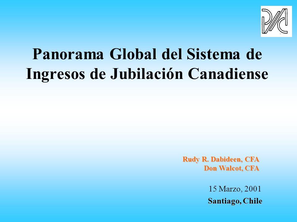 Panorama Global del Sistema de Ingresos de Jubilación Canadiense 15 Marzo, 2001 Santiago, Chile Rudy R.