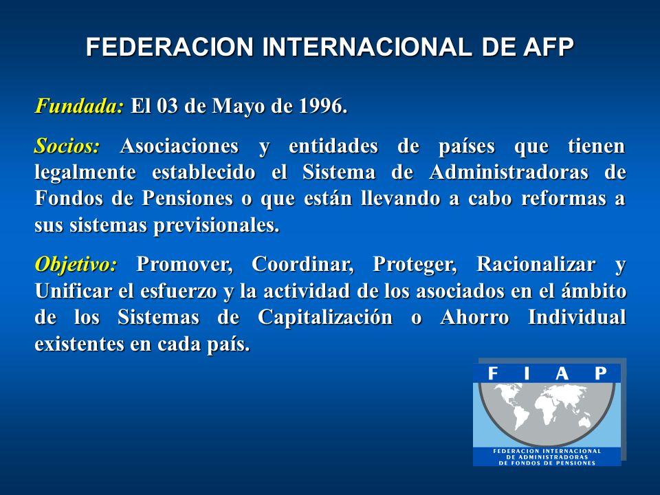 Fundada:El 03 de Mayo de 1996. Fundada: El 03 de Mayo de 1996. Socios: Asociaciones y entidades de países que tienen legalmente establecido el Sistema