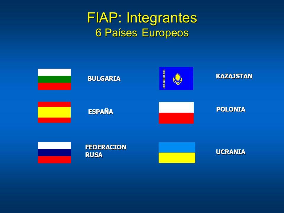 FIAP: Integrantes 6 Países Europeos ESPAÑA FEDERACION RUSA KAZAJSTAN BULGARIA POLONIA UCRANIA