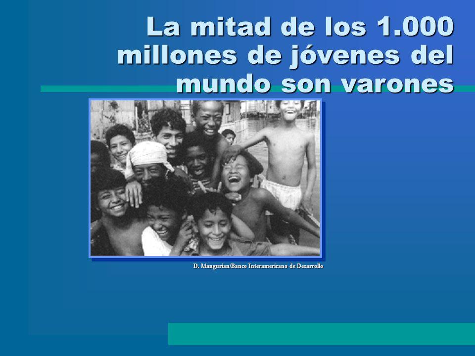 D. Mangurian/Banco Interamericano de Desarrollo La mitad de los 1.000 millones de jóvenes del mundo son varones