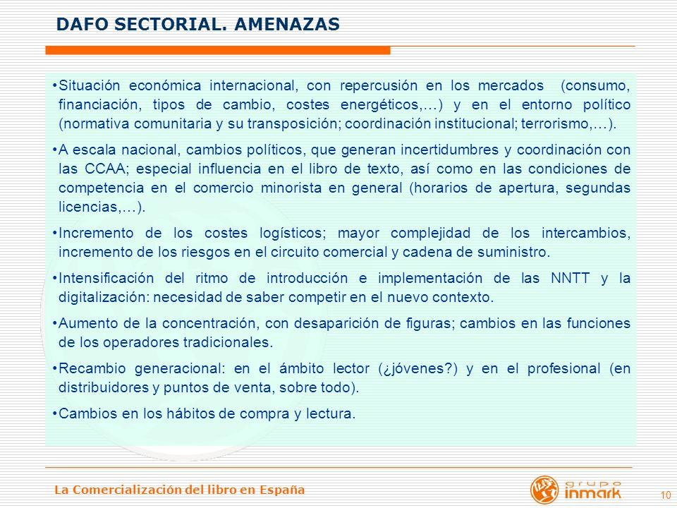 La Comercialización del libro en España 10 Situación económica internacional, con repercusión en los mercados (consumo, financiación, tipos de cambio,