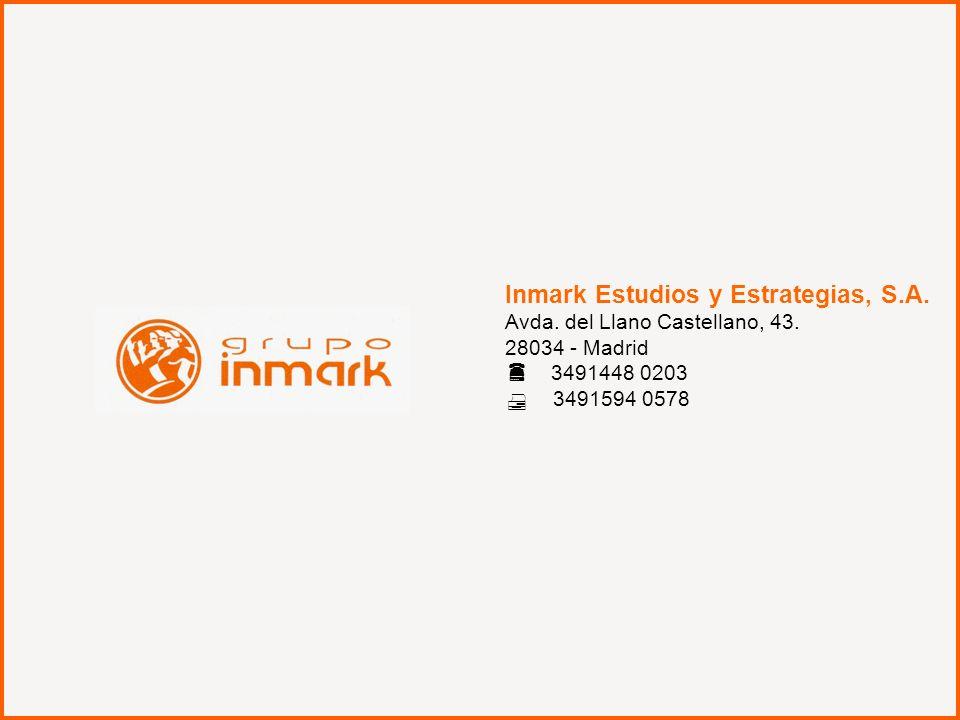 La Comercialización del libro en España 39 Inmark Estudios y Estrategias, S.A. Avda. del Llano Castellano, 43. 28034 - Madrid 3491448 0203 3491594 057
