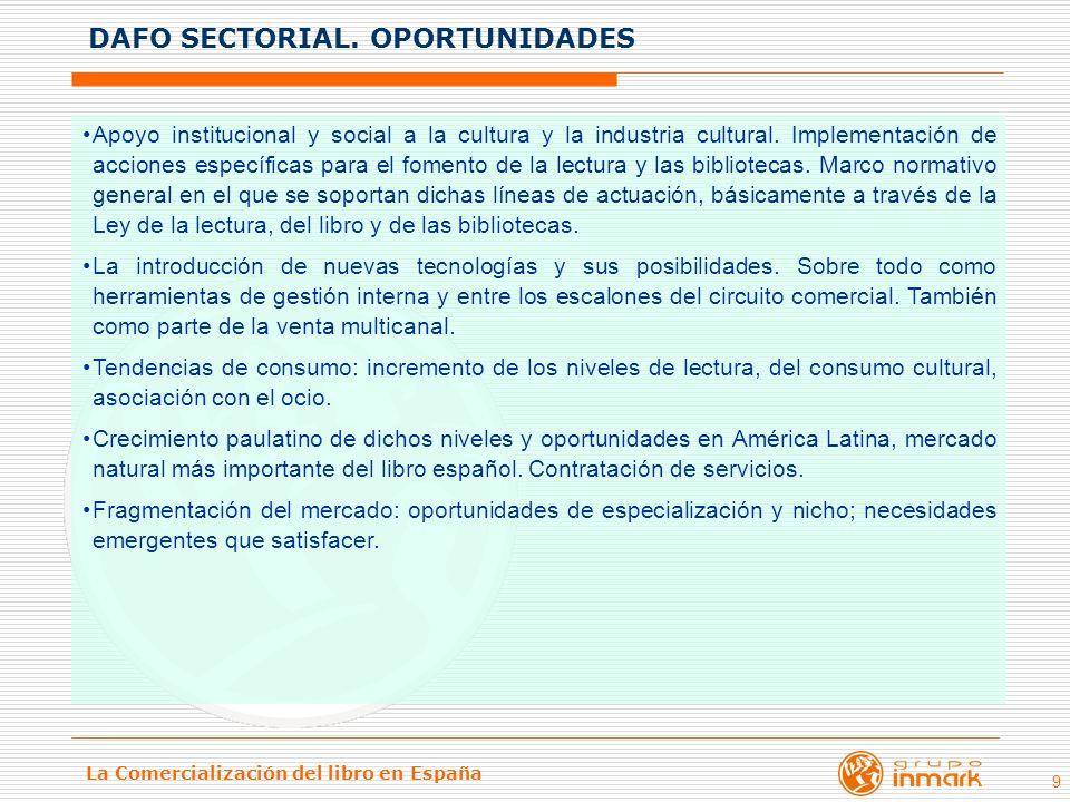 La Comercialización del libro en España 9 Apoyo institucional y social a la cultura y la industria cultural. Implementación de acciones específicas pa
