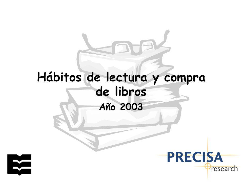 Hábitos de lectura y compra de libros Año 2003
