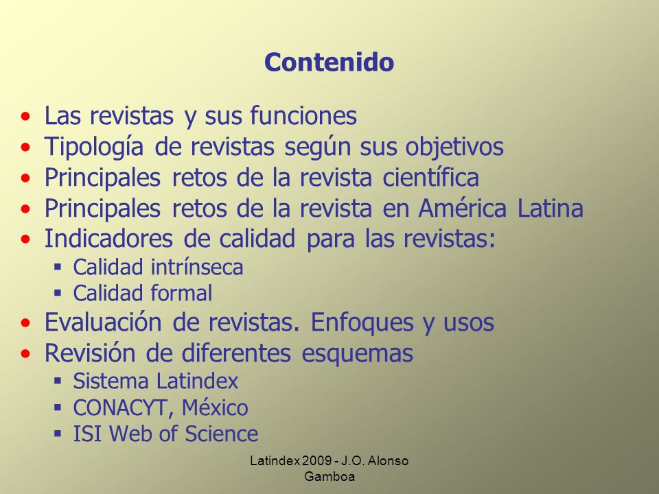 Latindex 2009 - J.O.Alonso Gamboa 2. Arbitraje 2.1 Comité editorial.