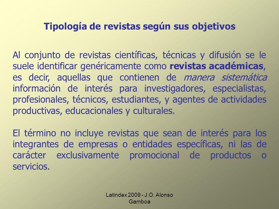 Latindex 2009 - J.O.