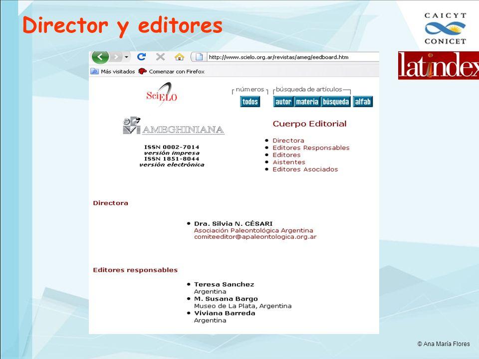 Director y editores © Ana María Flores