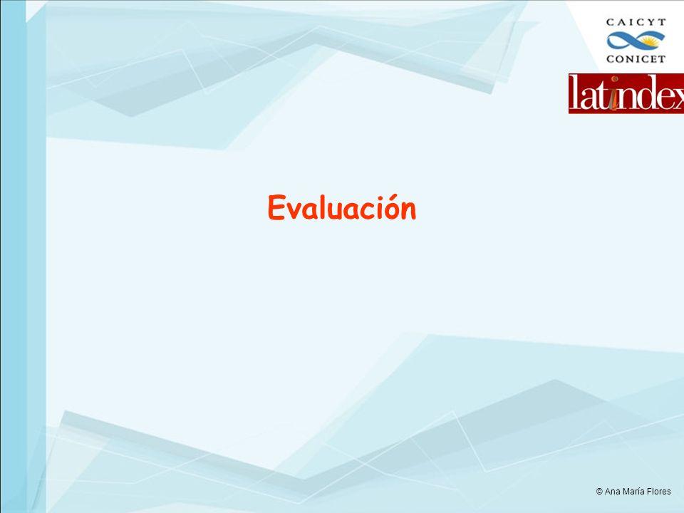 Evaluación © Ana María Flores