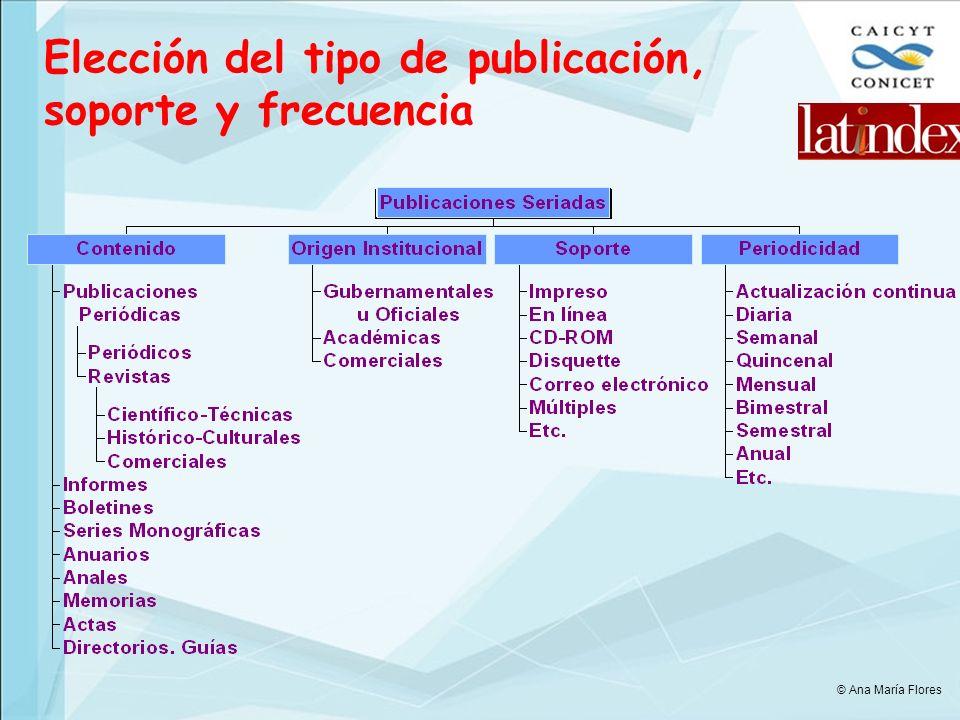 Elección del tipo de publicación, soporte y frecuencia © Ana María Flores