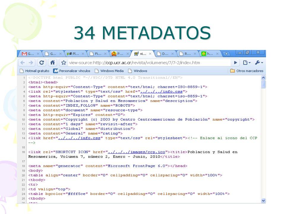 34 METADATOS