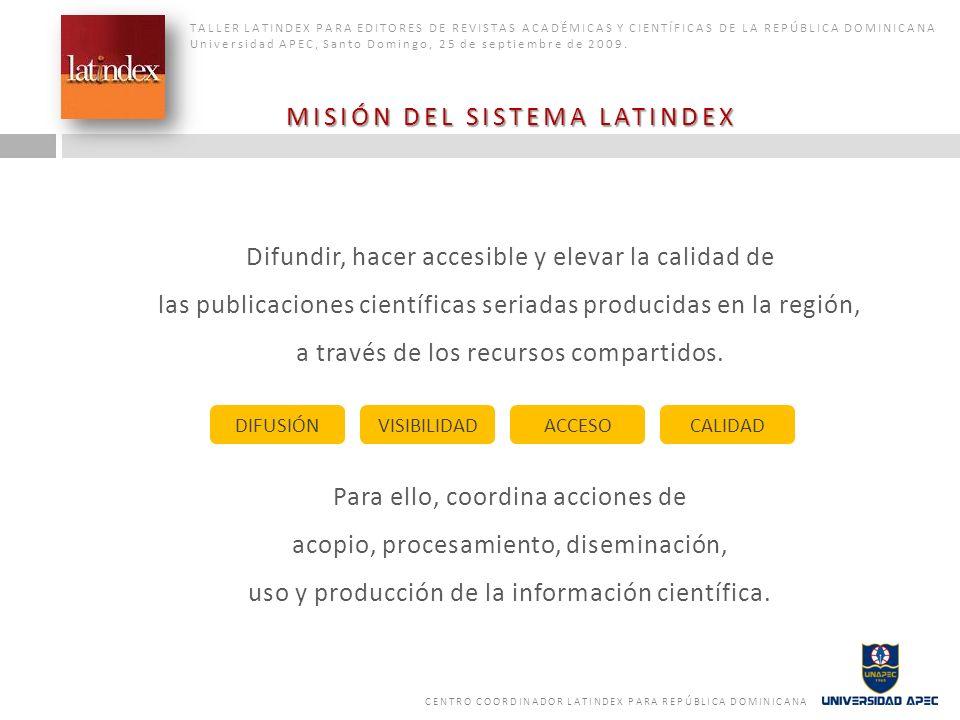 Latindex sirve a la comunidad internacional (organismos y personas) interesada en los contenidos, temas y acciones relacionados con la ciencia y la información científica en la región.
