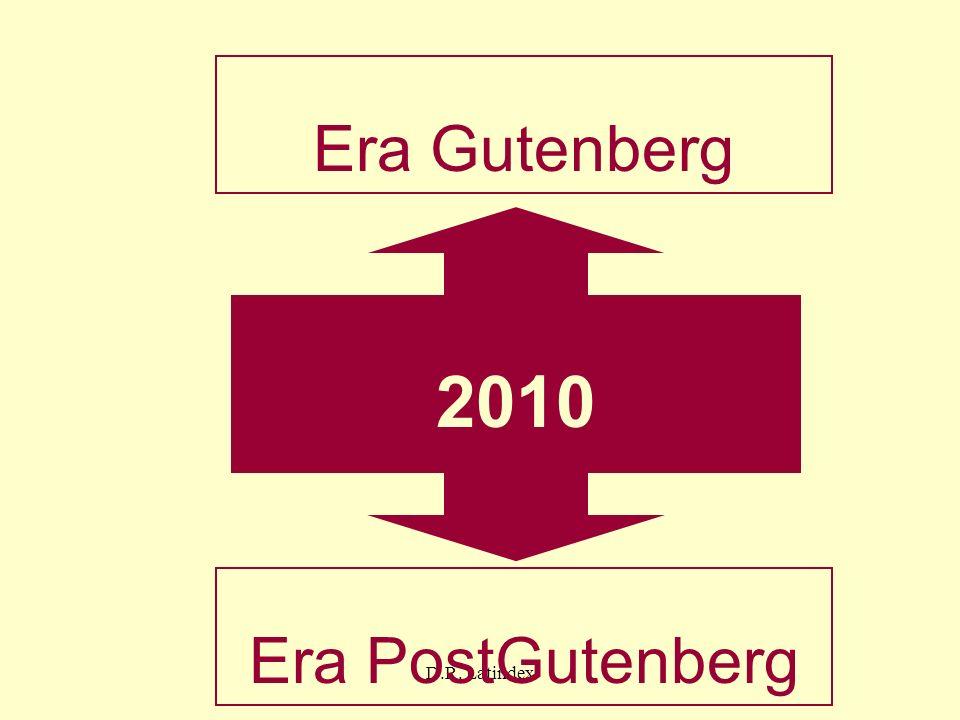 D.R. Latindex 2010 Era Gutenberg Era PostGutenberg
