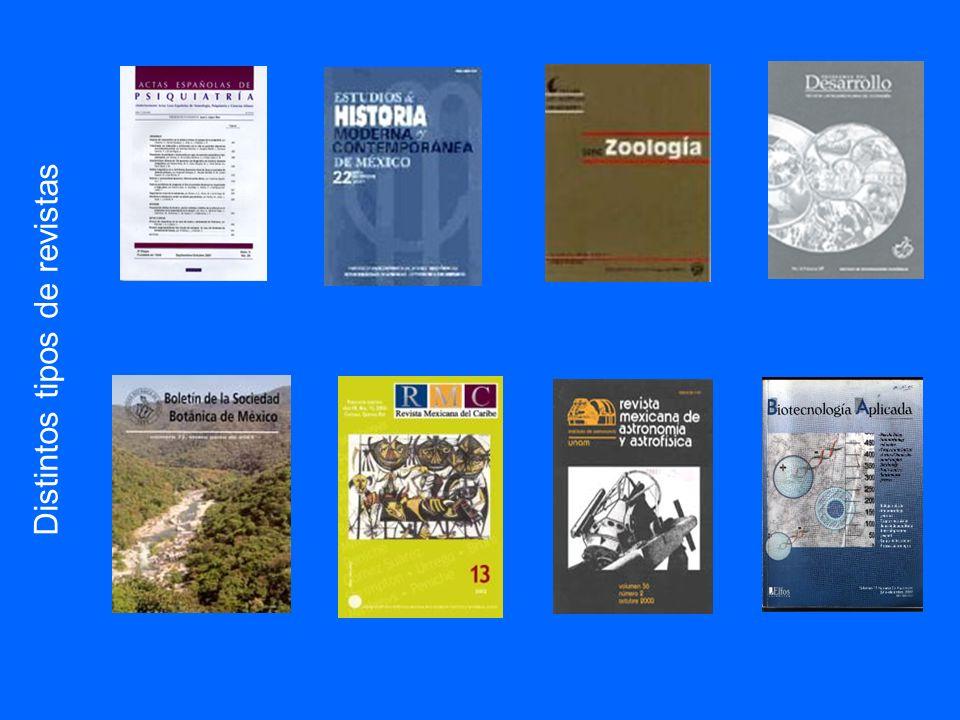 Distintos tipos de revistas