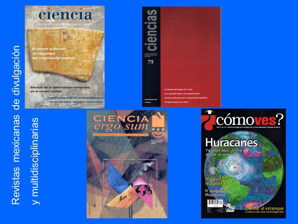 Revistas mexicanas de divulgación y multidisciplinarias