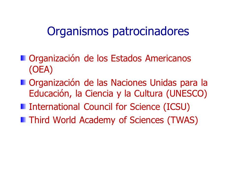 Organismos patrocinadores Organización de los Estados Americanos (OEA) Organización de las Naciones Unidas para la Educación, la Ciencia y la Cultura