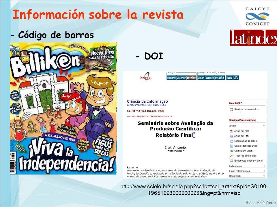 Información sobre la revista - Código de barras - DOI http://www.scielo.br/scielo.php?script=sci_arttext&pid=S0100- 19651998000200023&lng=pt&nrm=iso ©