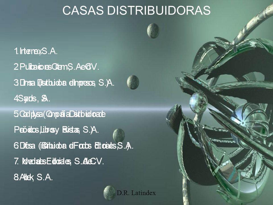 D.R. Latindex CASAS DISTRIBUIDORAS