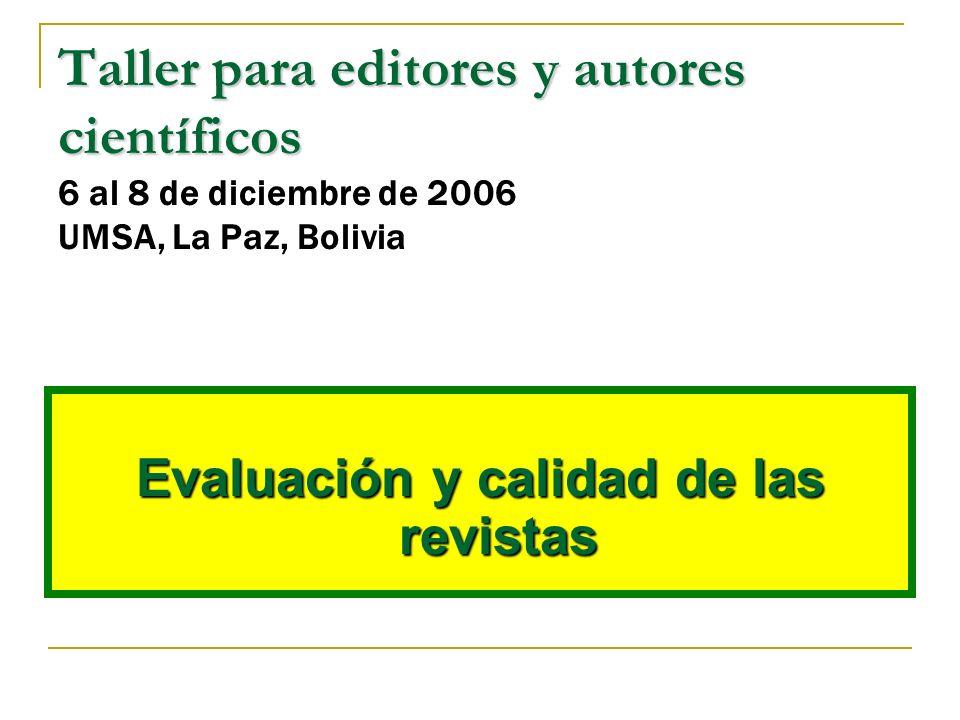 Revistas y comunicación científica El sistema de revistas existentes cumple un orden eficaz colaborando en la comunicación de la nueva investigación de alta calidad.