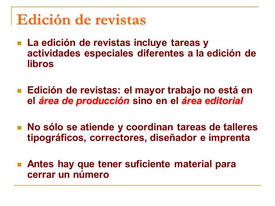 Para la inclusión de revistas en el Catálogo Latindex, se elaboró una batería de 33 características editoriales de calidad seleccionadas, después de diversas pruebas piloto con casi un centenar de revistas en seis de los países participantes, así como de diversas, reuniones técnicas de Latindex celebradas en 2001 (Lisboa y Buenos Aires) y 2002 (San Juan, Puerto Rico).