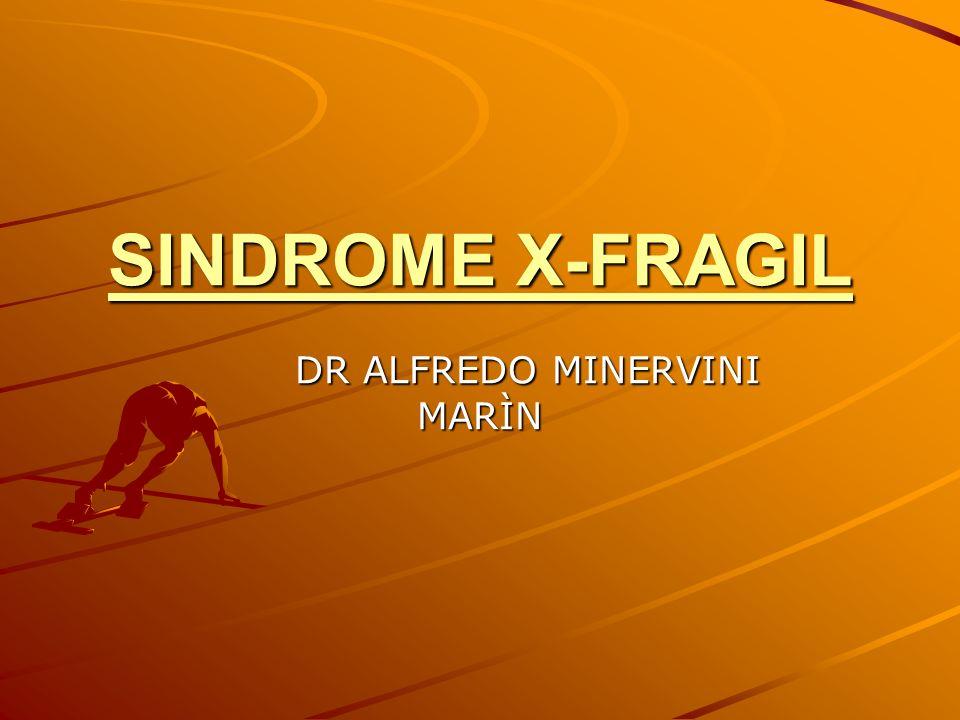 SINDROME X-FRAGIL DR ALFREDO MINERVINI MARÌN