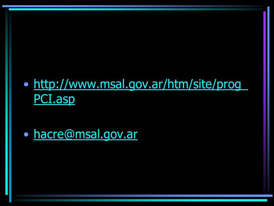 http://www.msal.gov.ar/htm/site/prog_ PCI.asphttp://www.msal.gov.ar/htm/site/prog_ PCI.asp hacre@msal.gov.ar