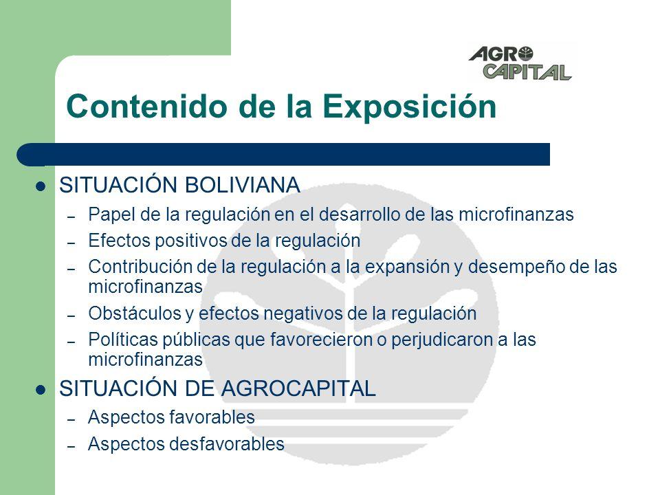 II Conferencia Centroamericana de Microfinanzas EXPERIENCIAS Y EVOLUCIÓN DE LA REGULACIÓN Y POLÍTICAS PÚBLICAS EN BOLIVIA