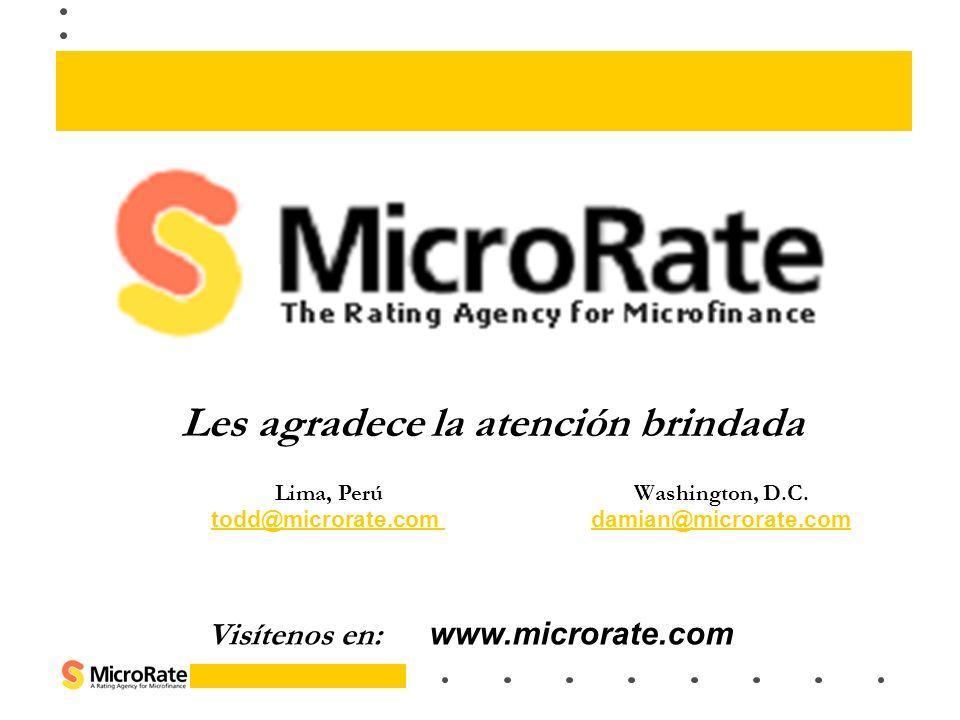 Lima, Perú Washington, D.C. todd@microrate.com damian@microrate.comdamian@microrate.com Visítenos en: www.microrate.com Les agradece la atención brind