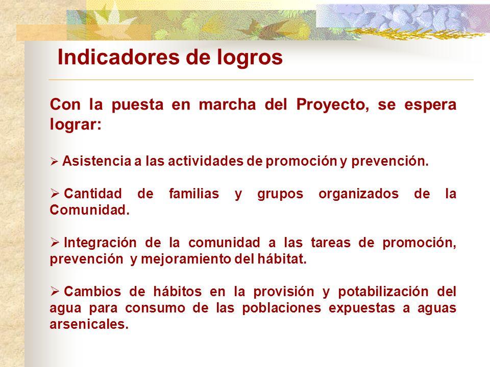 Con la puesta en marcha del Proyecto, se espera lograr: Asistencia a las actividades de promoción y prevención.