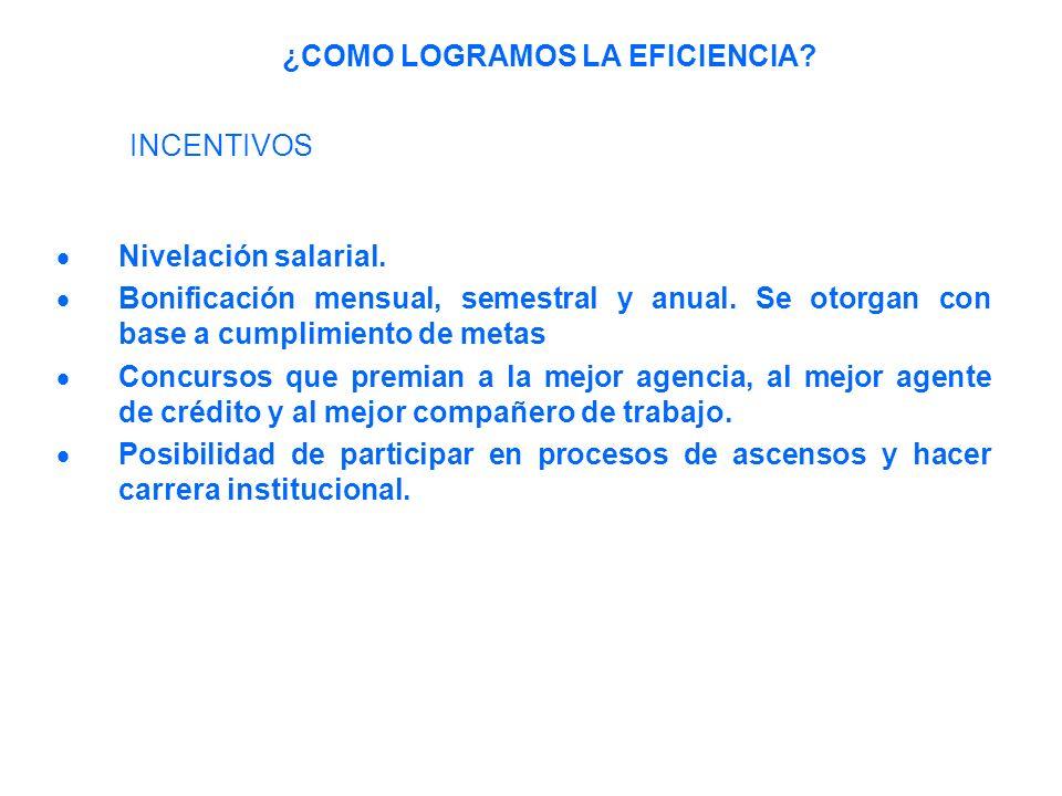 Nivelación salarial.Bonificación mensual, semestral y anual.