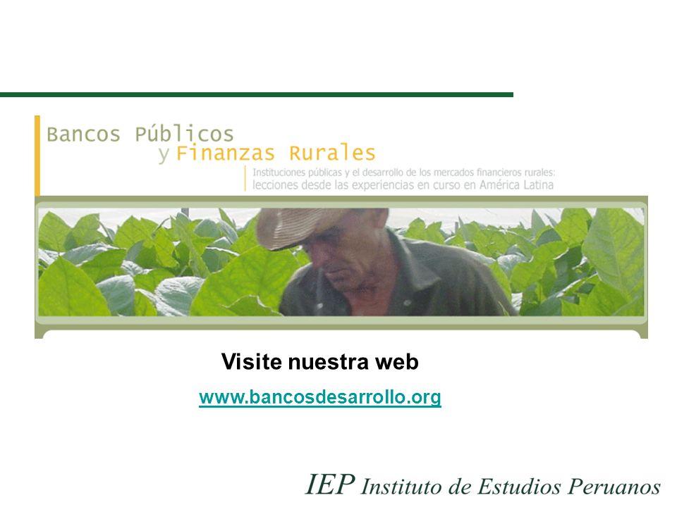 Visite nuestra web www.bancosdesarrollo.org