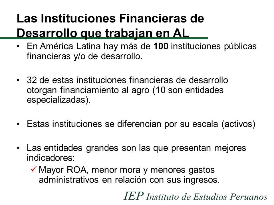 Las Instituciones Financieras de Desarrollo que trabajan en AL En América Latina hay más de 100 instituciones públicas financieras y/o de desarrollo.