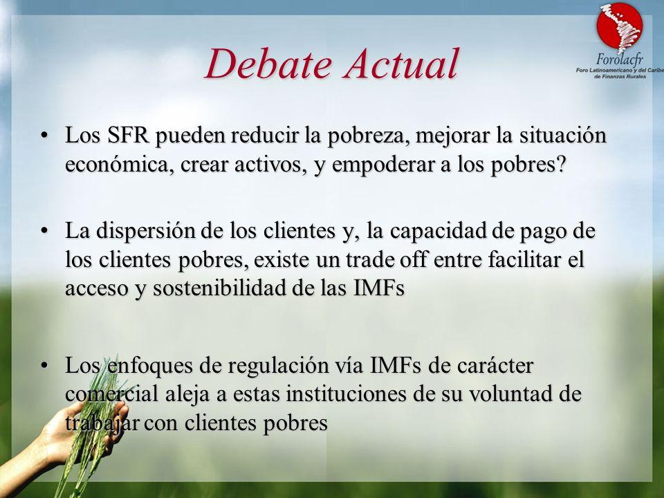 Debate Actual Los SFR pueden reducir la pobreza, mejorar la situación económica, crear activos, y empoderar a los pobres?Los SFR pueden reducir la pob