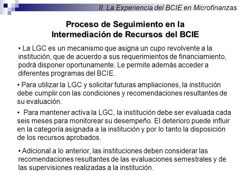 Proceso de Seguimiento en la Intermediación de Recursos del BCIE II.