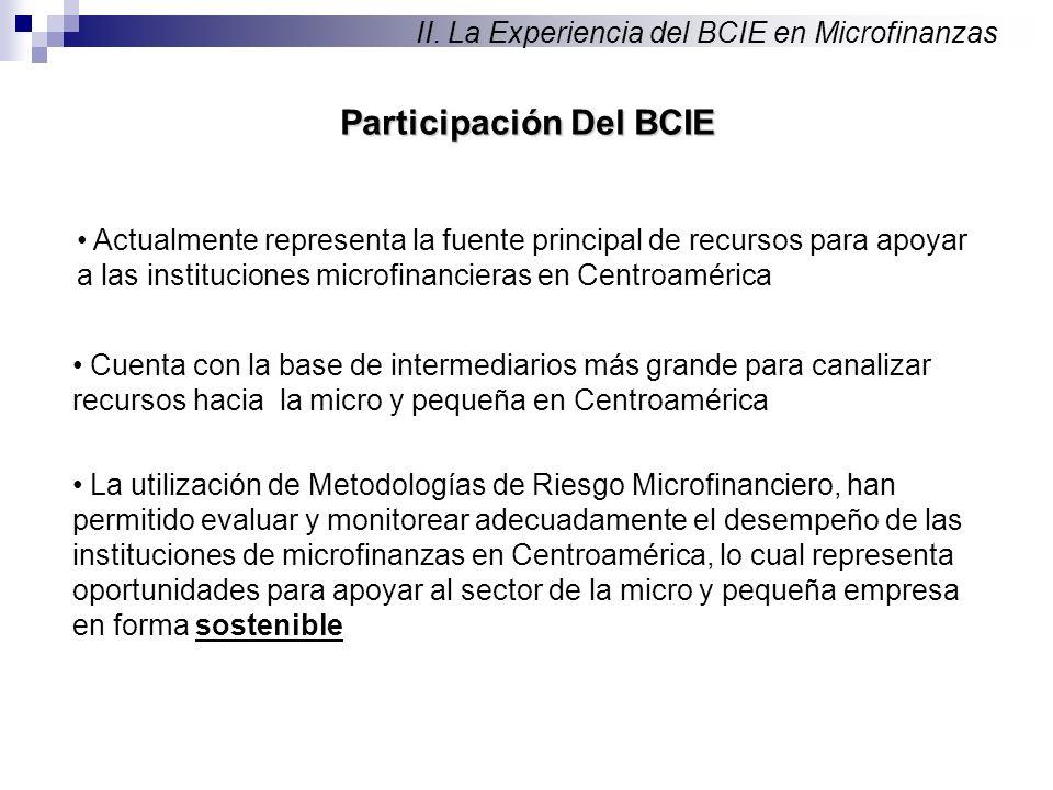 Participación Del BCIE II.