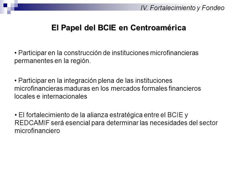 Participar en la construcción de instituciones microfinancieras permanentes en la región.