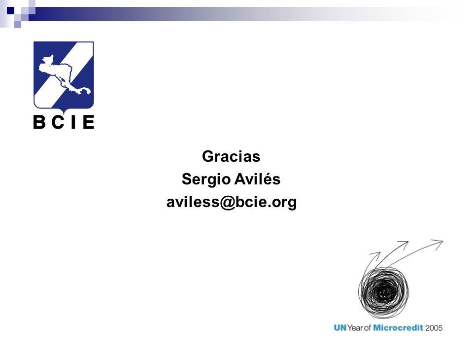 Gracias Sergio Avilés aviless@bcie.org