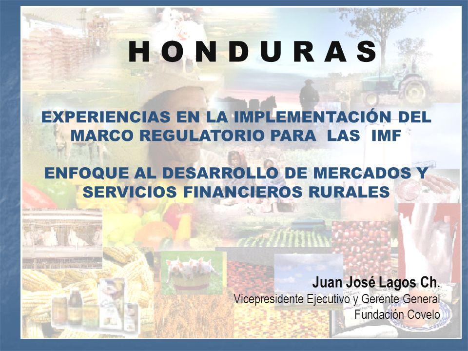 EXPERIENCIAS EN LA IMPLEMENTACIÓN DEL MARCO REGULATORIO PARA LAS IMF ENFOQUE AL DESARROLLO DE MERCADOS Y SERVICIOS FINANCIEROS RURALES Juan José Lagos