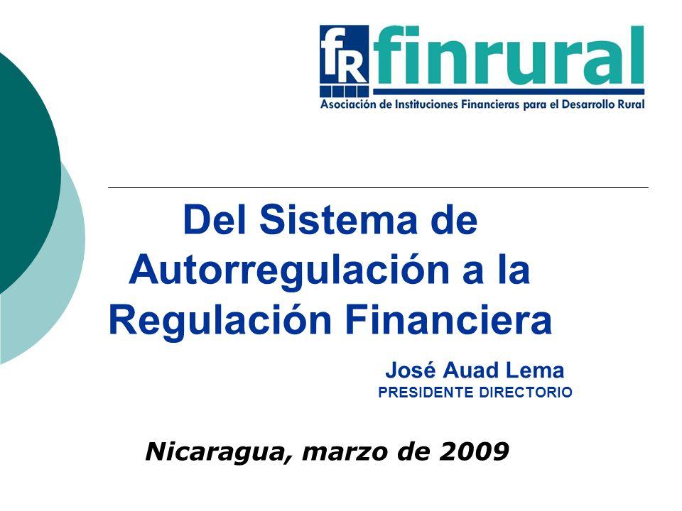 Del Sistema de Autorregulación a la Regulación Financiera Nicaragua, marzo de 2009 José Auad Lema PRESIDENTE DIRECTORIO