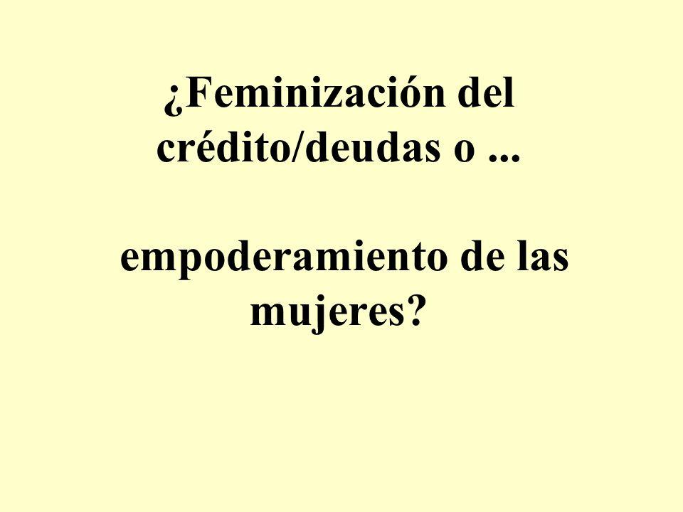 ¿Feminización del crédito/deudas o... empoderamiento de las mujeres?