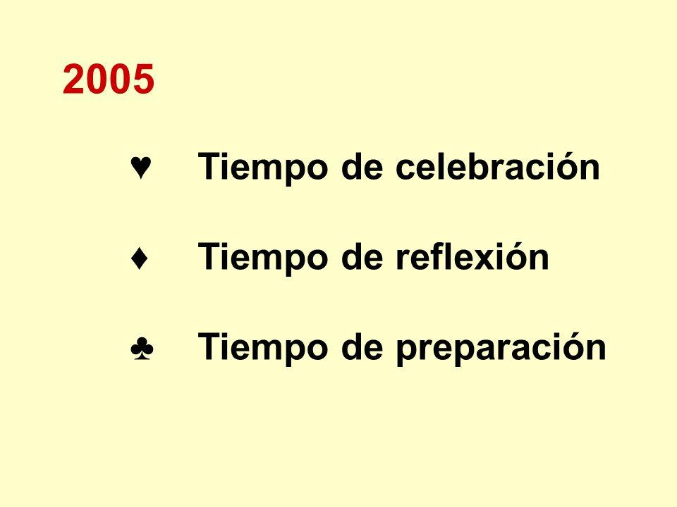 2005 Tiempo de celebración Tiempo de reflexión Tiempo de preparación