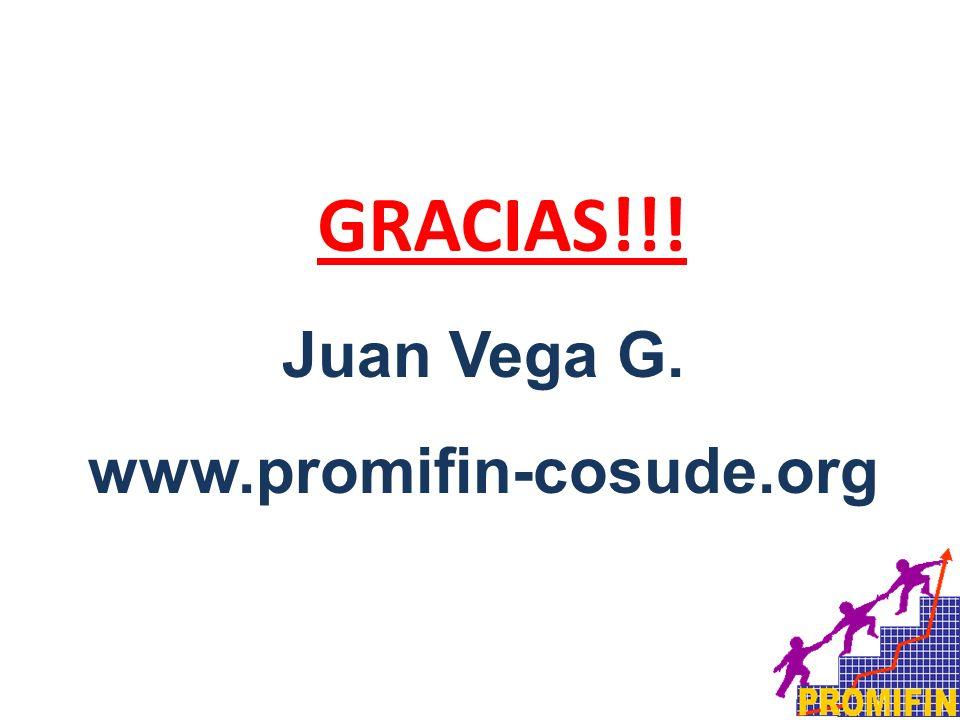Juan Vega G. www.promifin-cosude.org GRACIAS!!!