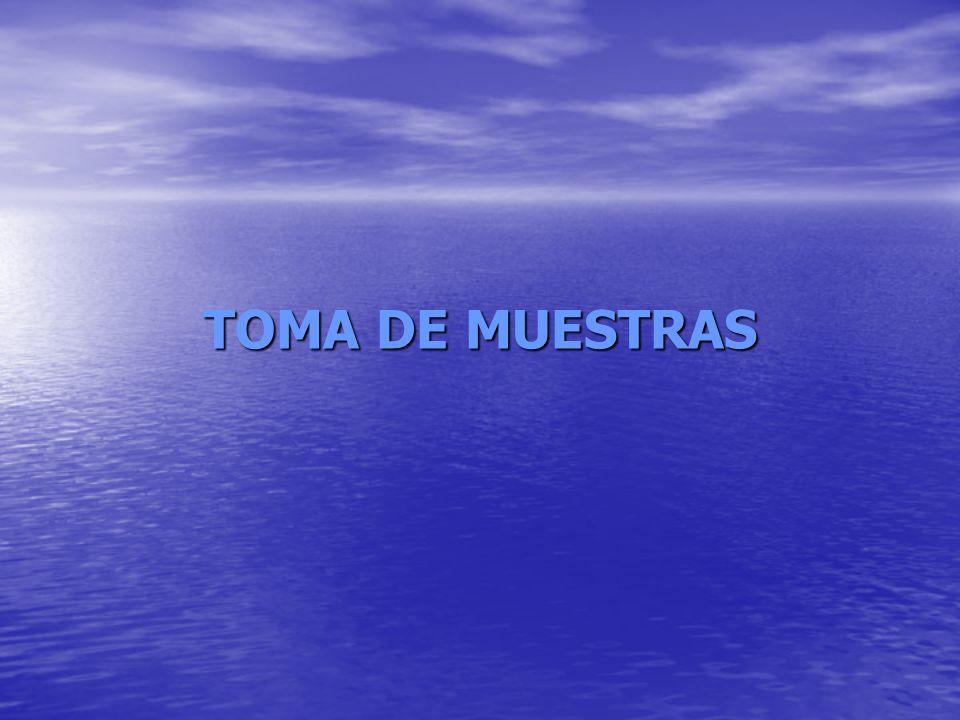 TOMA DE MUESTRAS